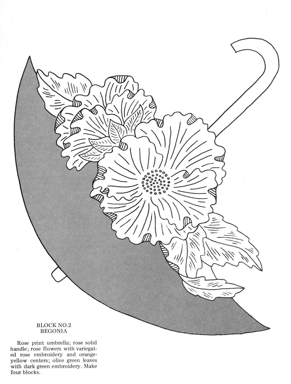 Umbrella bouquets embroidery applique sombrillas pinterest