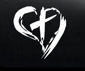 Cross Heart Jesus Logo Vinyl Decal X For CarTruck Windows - Custom logo vinyl decals