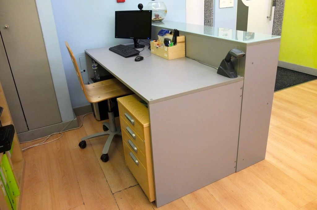 Diy Building A Reception Desk Something On Everything Reception Desk Ikea Reception Desk Reception Desk Diy