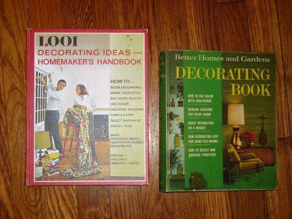 Two Books 1001 Decorating Ideas Homemaker S Handbook 1969 And Bhg