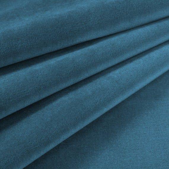 Velvet Upholstery Fabric Como 170 Cyan #velvetupholsteryfabric