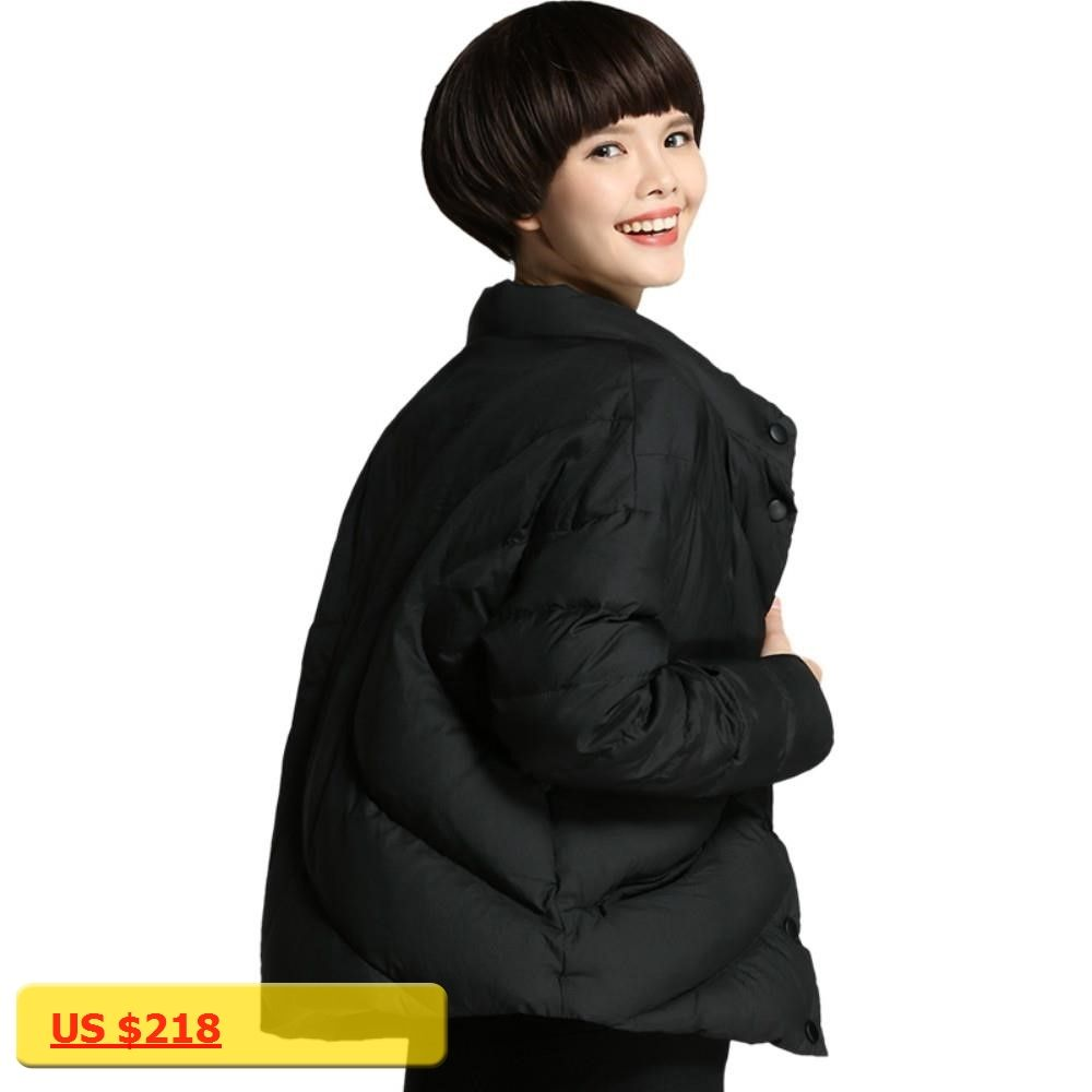 Plus size m xl new winter women short duck down jackets loose