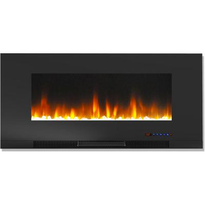 Dynasty Fireplaces 48 In Built In Led Electric Fireplace In Black Glass Dy Btw48 With Images Wall Mount Electric Fireplace Electric Fireplace Electric Fireplace Wall