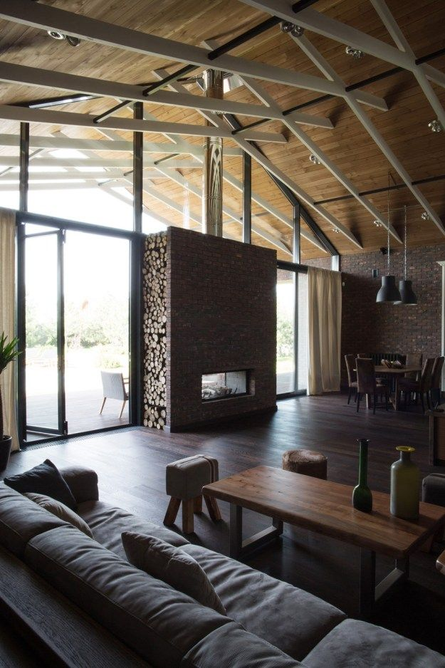 Rustic Living Room By Studio Sofield By Architectural: House Without Borders By Architectural Studio Chado