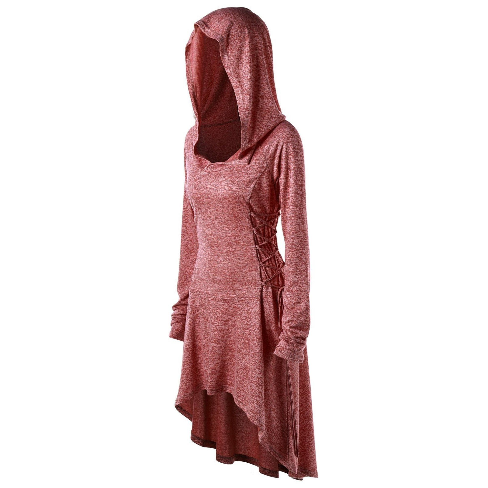 Sysea Women Long Sleeve Irregular Hem Long Tops Casual Hooded Dress Walmart Com In 2021 Big Size Outfit Fashion Solid Color Dress [ 2000 x 2000 Pixel ]