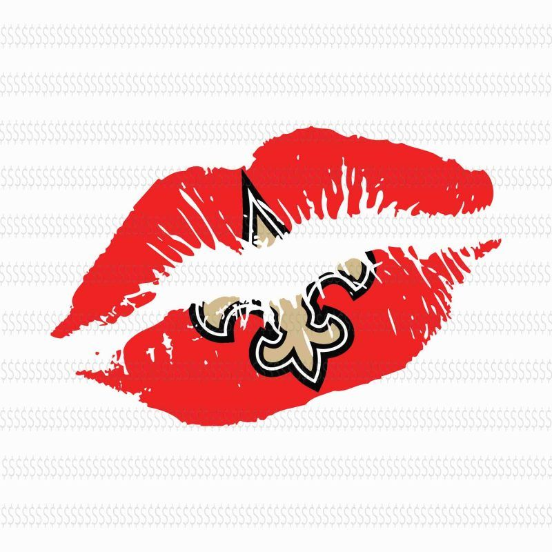 Lips new orleans saints design svg,New Orleans Saints svg