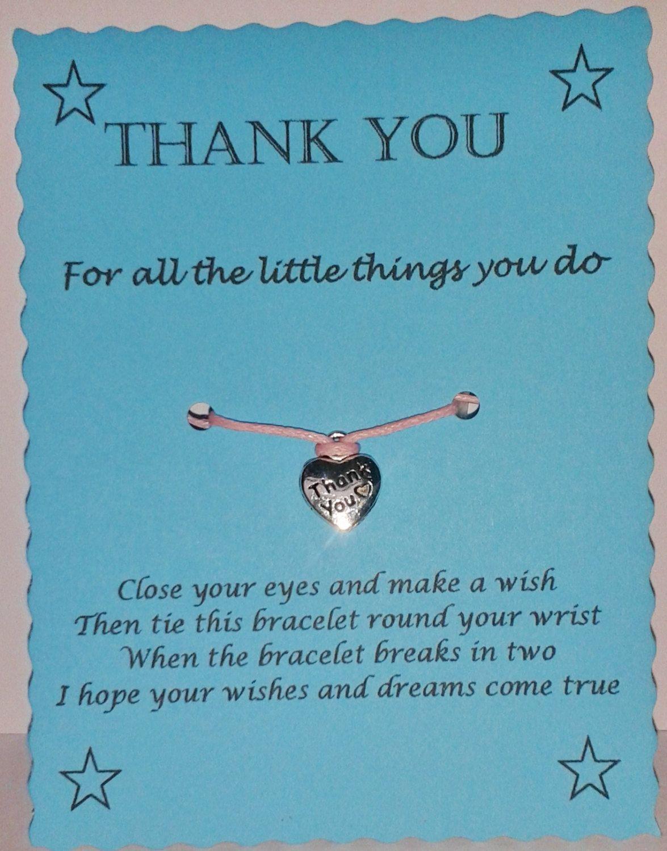 thinking of you birthday mothers day wish bracelet thank you Grandma gift