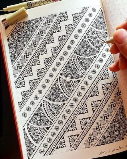 Photo of Doodle Kunst Ideen zeichnen Zentangle Muster 24 Ideen für 2019 #mandala Doodle Kunst i …