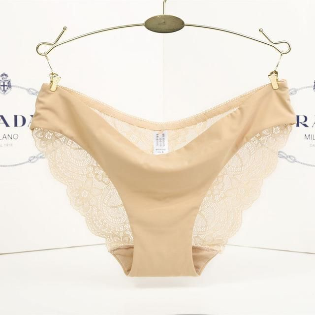 8ba137ad94d S-2XL! seamless low-Rise women s sexy lace lady panties seamless cotton  breathable panty Hollow briefs Plus Size girl underwear