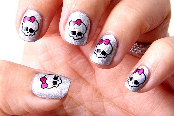 Monster High Toe Nail Designs