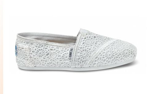 online retailer 17652 1fbb2 Bridal Tom's!!!!!!! | Fashion | Lace toms, Crochet woman ...