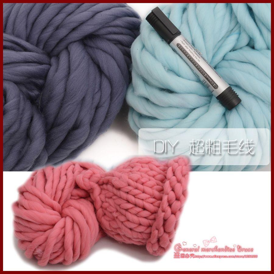 Envío gratis súper gruesos hilos para Knitting alta calidad gruesa ...