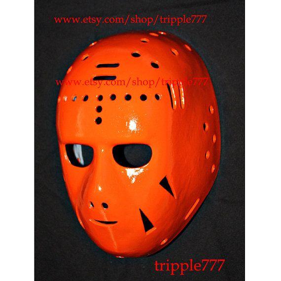 Hockey mask, Hockey goalie, NHL ice hockey, Roller Hockey, Hockey goalie mask, Hockey helmet 1971 - 1972 Philadelphia Doug Favell mask HO16