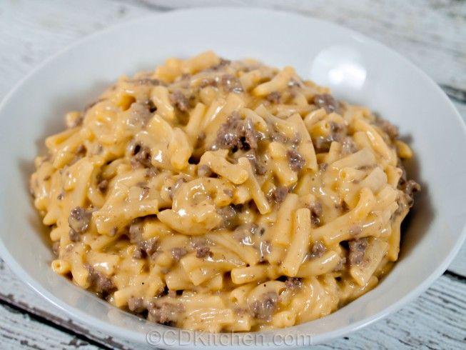 Easy Cheesy Beef Mac With Ground Beef Cream Of Mushroom Soup Milk Macaroni Kraft Mac And Cheese Recipe Ground Beef Recipes Easy Beef Recipes Easy