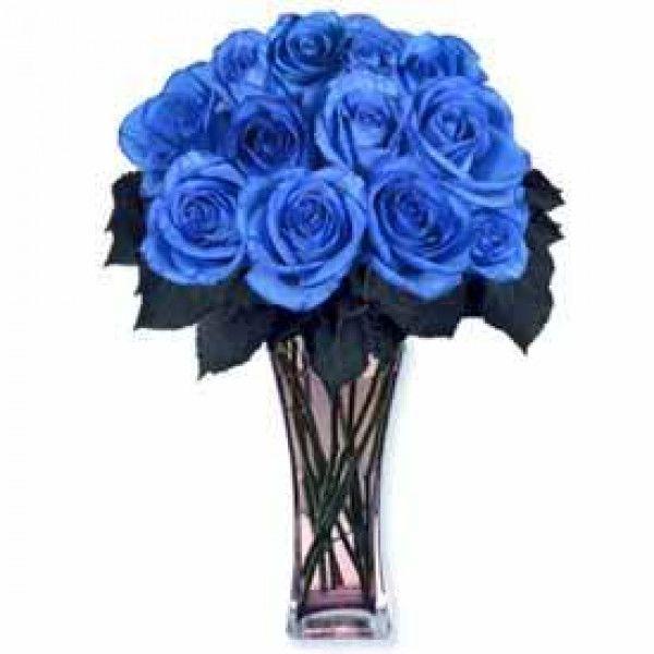 Congraculate With Blue Roses Bouquet Azul Flores Para Entrega Parabens Com Flores