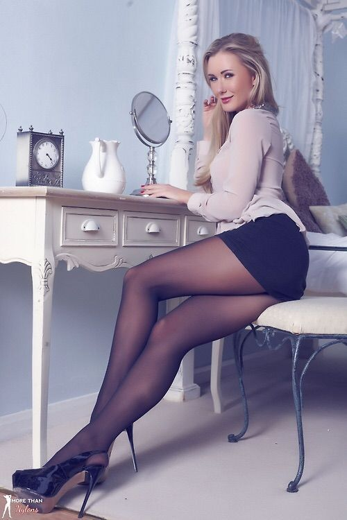 erection He pantyhose an got