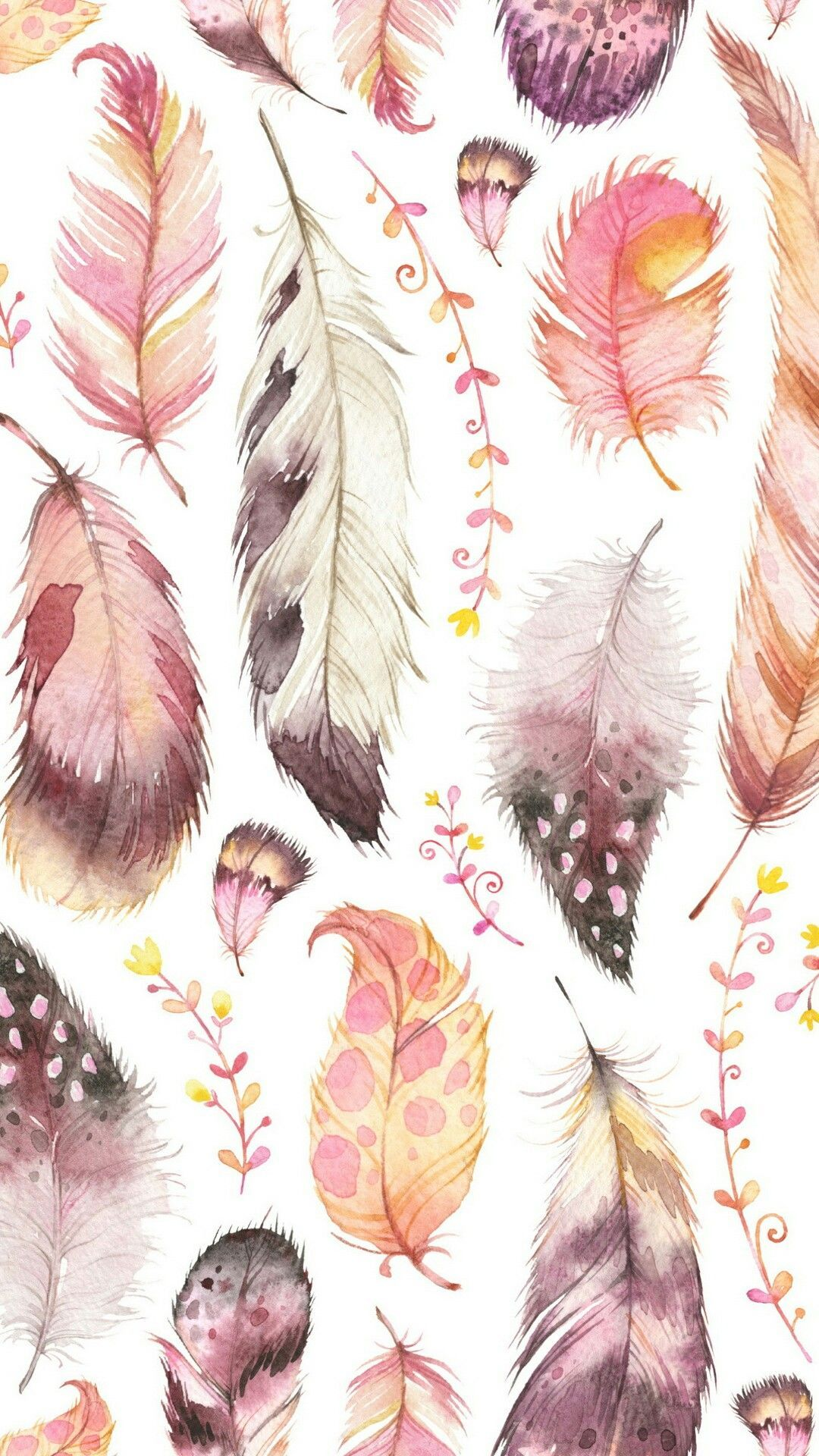 Pin by Bailey Edmonds on → Phone Feather wallpaper, Boho