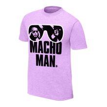 """Macho Man"" Randy Savage Purple T-Shirt"