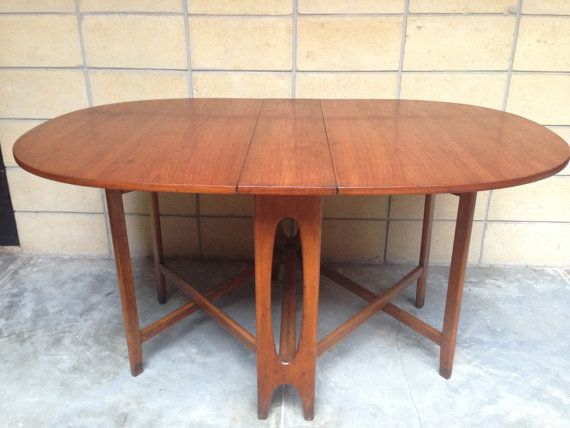 On Hold For Jen Mid Century Modern Teak Drop Leaf Table In The