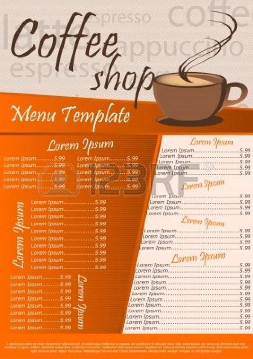 free coffee flyer template search coffee shop menu template