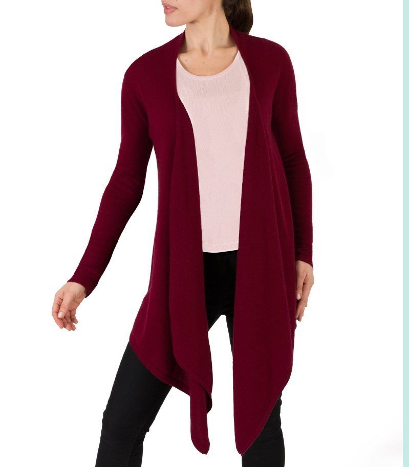 burgundy waterfall cardigan - Google-haku | My winter 333 ...