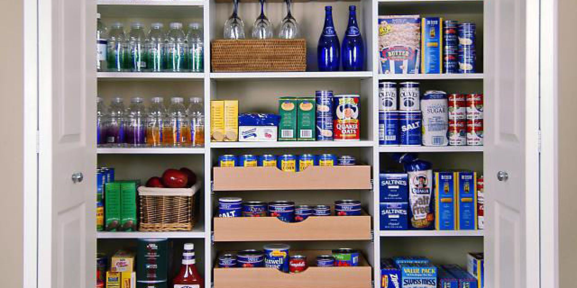 How To Organize Your Kitchen Cabinets Pantry Shelving Pantry Design Pantry Makeover