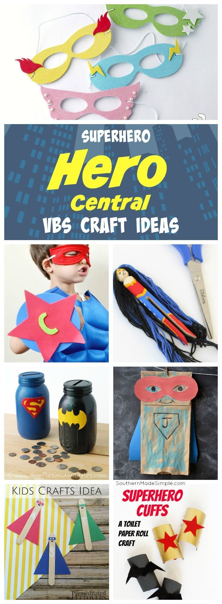 Vacation Bible School Craft Ideas Kids Part - 18: 12 Super Hero Themed Craft Ideas - Perfect For Hero Central VBS 2017!