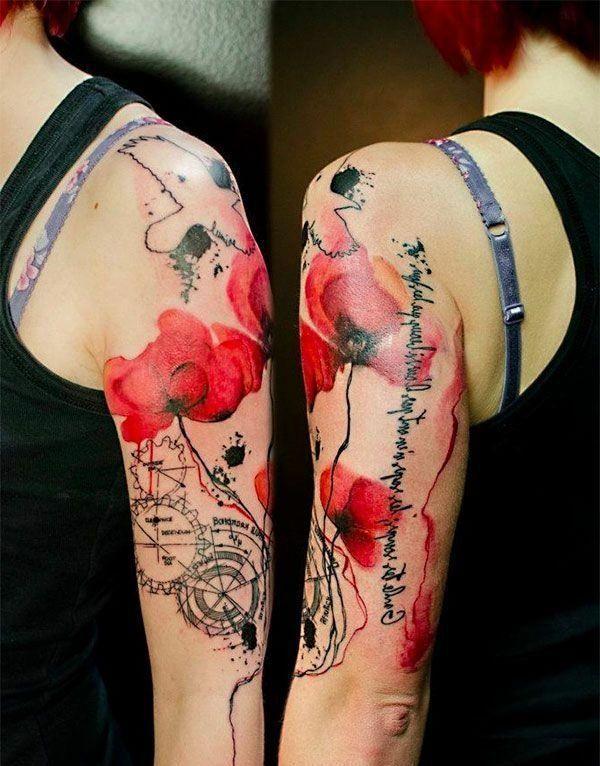 tattoo ideen oberarm schrift blumen tattoos pinterest. Black Bedroom Furniture Sets. Home Design Ideas