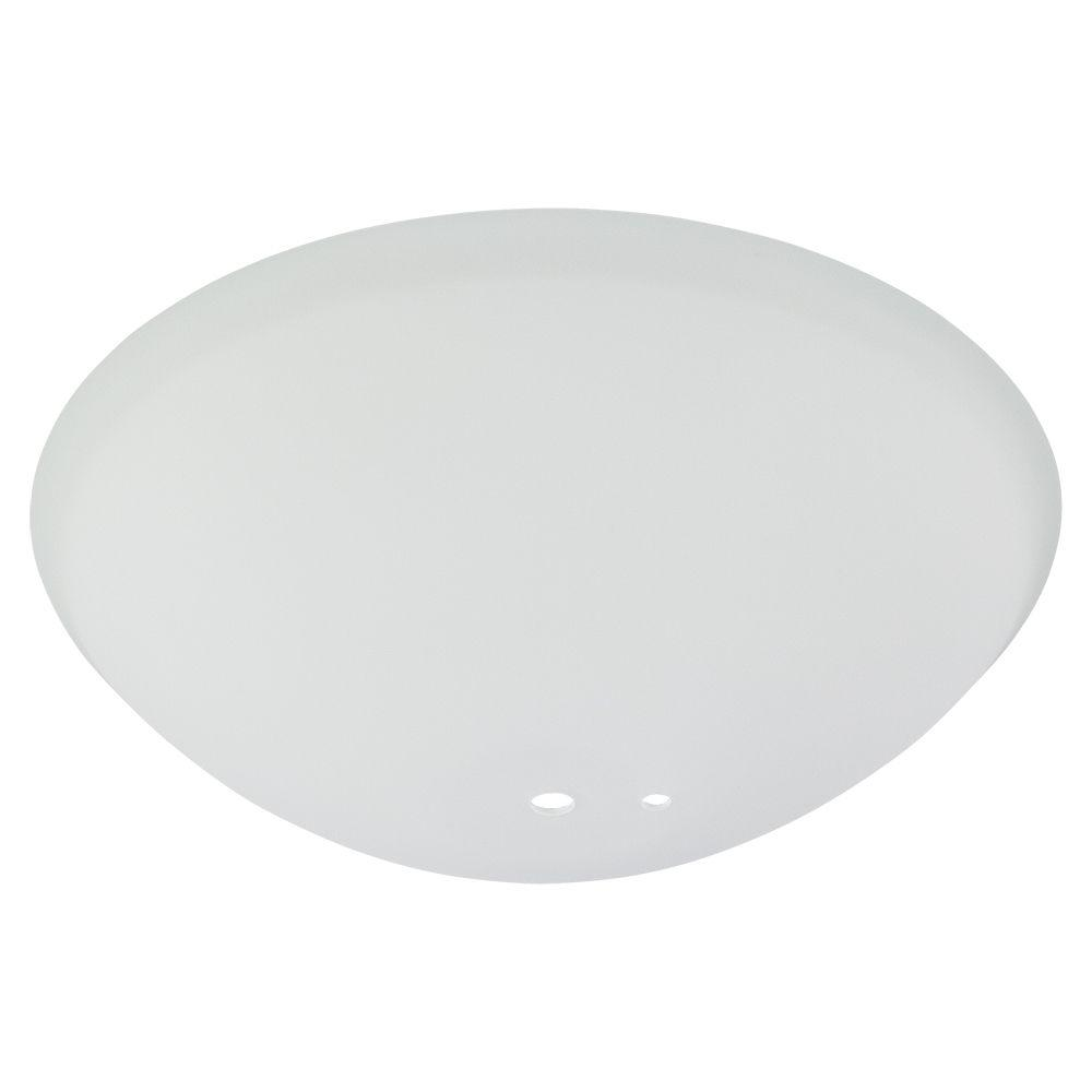 Springview 52 In White Ceiling Fan Replacement Frosted White Glass Bowl G14921 The Home Depot White Ceiling Fan Glass Ceiling Lights Glass Replacement