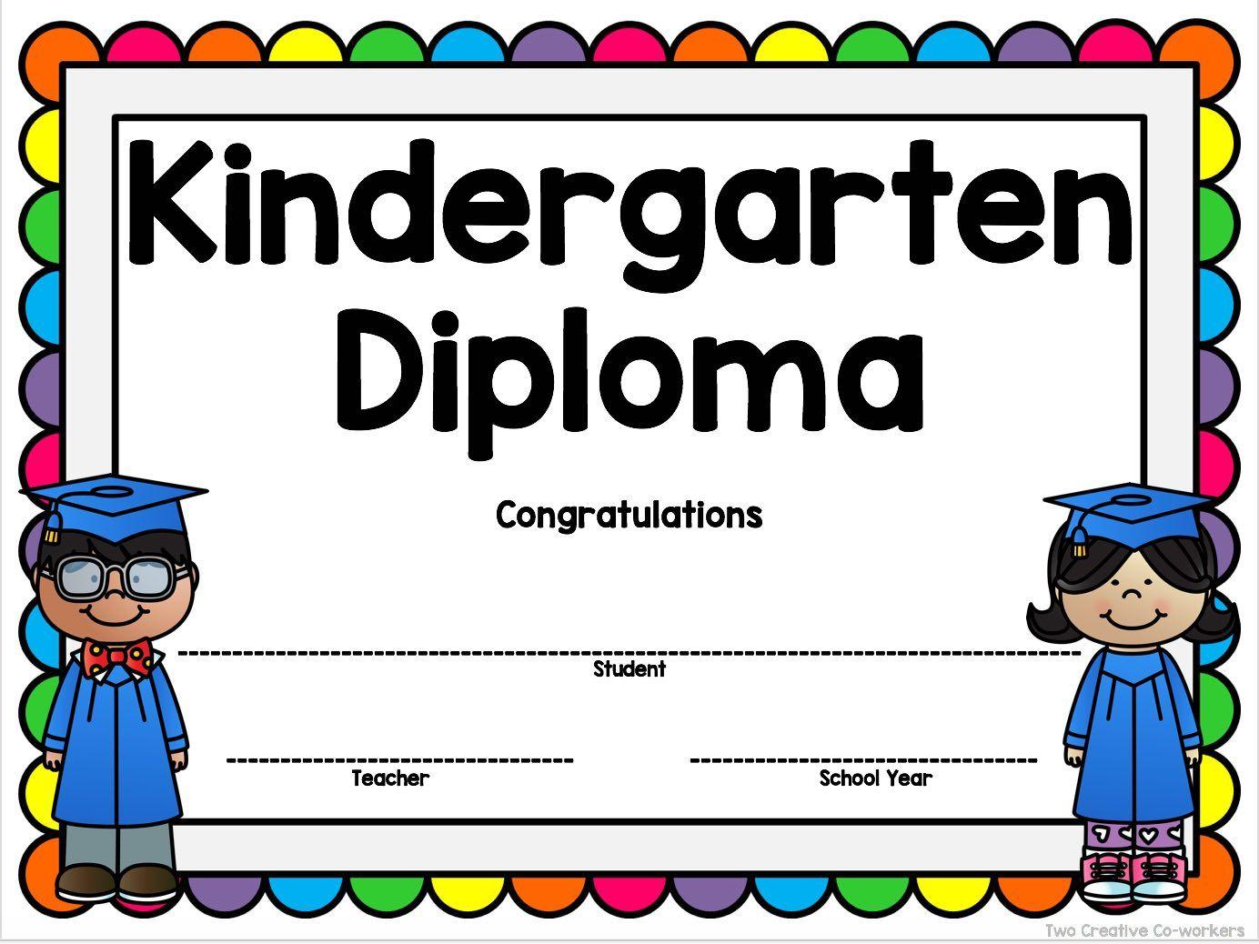 Kindergarten Graduation Diploma Certificate Invitation