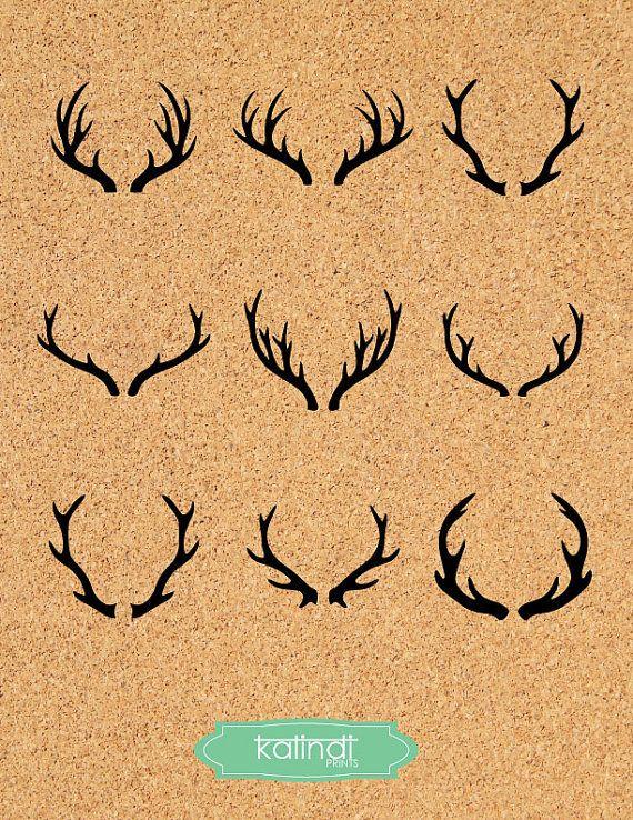 Deer Antler SVG, Deer Horns vector graphic, Deer Antler