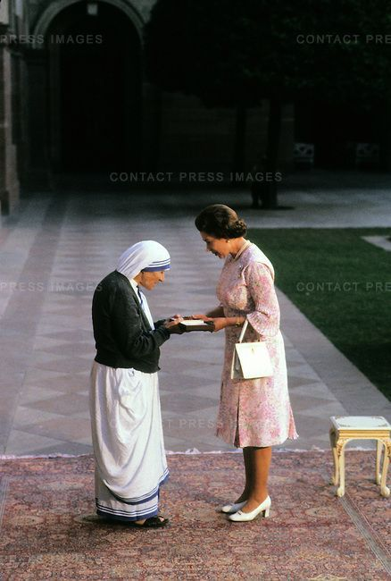 Mother Theresa and Queen Elizabeth II: