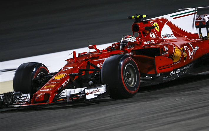 Download Wallpapers Ferrari SF70H, Kimi Raikkonen, Scuderia Ferrari, Formula  1, The Finnish