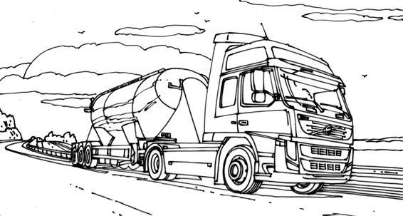 Kleurplaten Vrachtwagens Volvo Google Zoeken Brennen Atelier