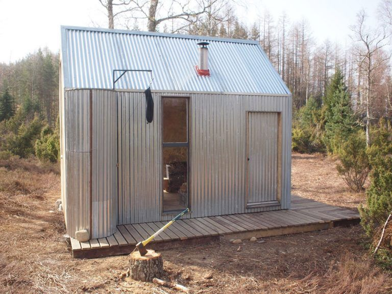 Sheet Metal Exterior Bothy Building A Shed Tiny Cabin