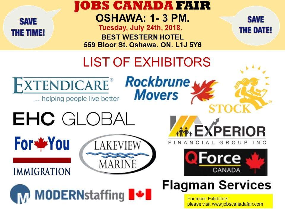 List of Hiring Companies for #Oshawa Job Fair July 24th