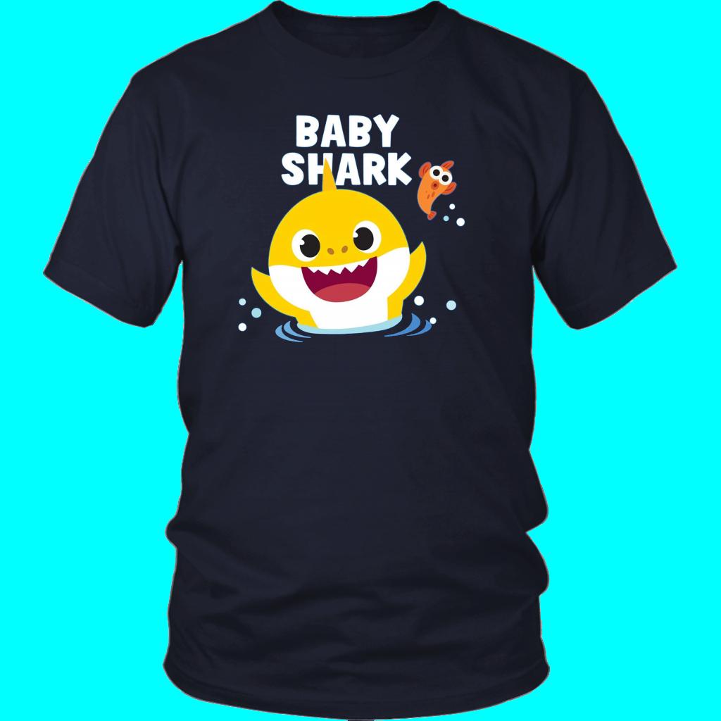 Pinkfong Baby Shark With Text T-Shirt   Baby shark, Shark ...