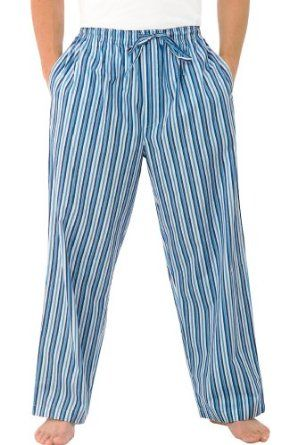 Men s Classic 100% Cotton Pajama Pants - Dark Blue and White Striped Medium  (A0505P19MD) Alexander Del Rossa.  14.99 c3248f55c