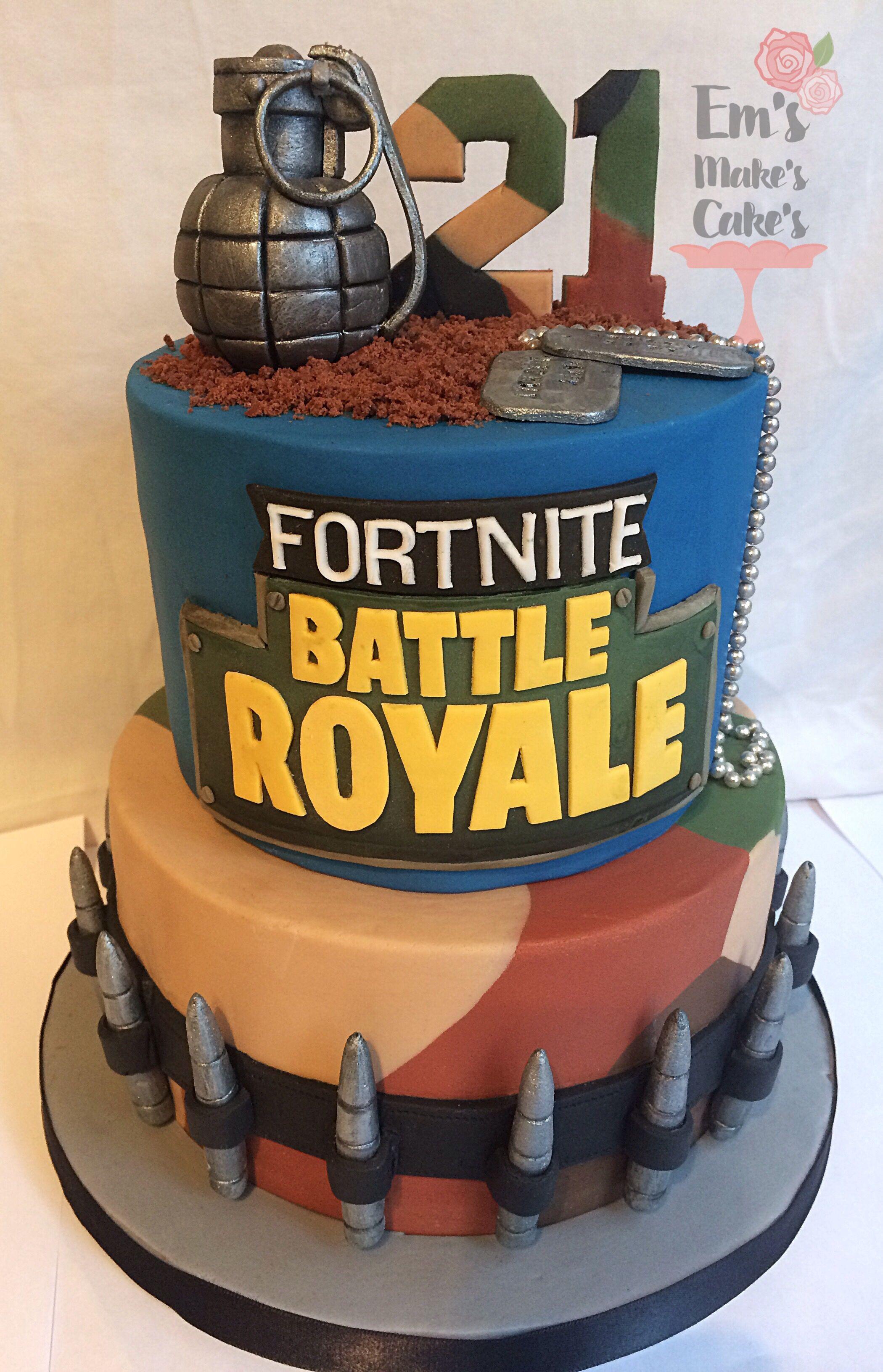 Battle Royal Fortnite Cake Royal Cakes Cake Themed Birthday Cakes