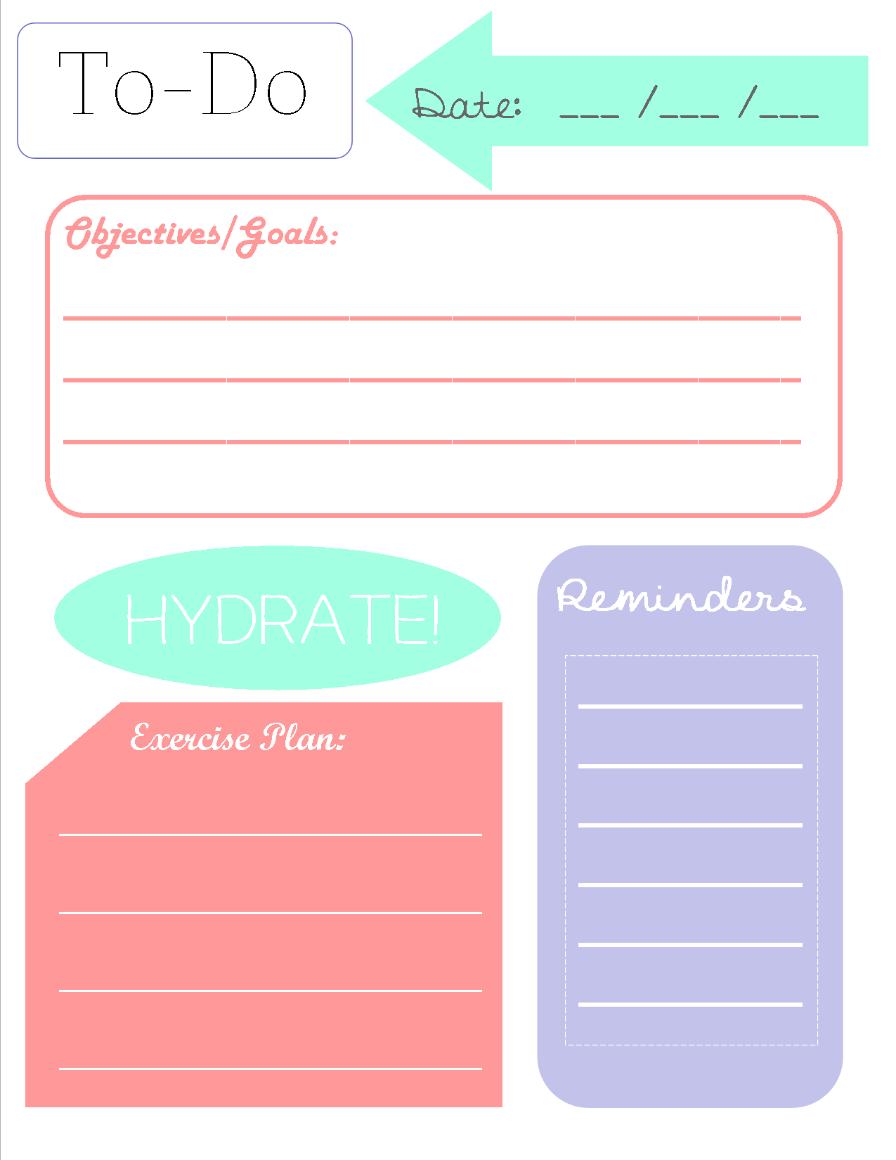 Assez To-Do list printable | Printables | Pinterest | Planners, Time  CE85