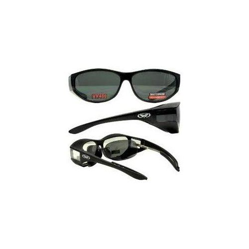 0aedc5ae9a2e Global Vision Escort over-prescription Glasses Sunglasses with Smoked  Lenses Has Matching Side Lens Meets ANSI Z87.1-2003 Standards for Safety  Eyewear
