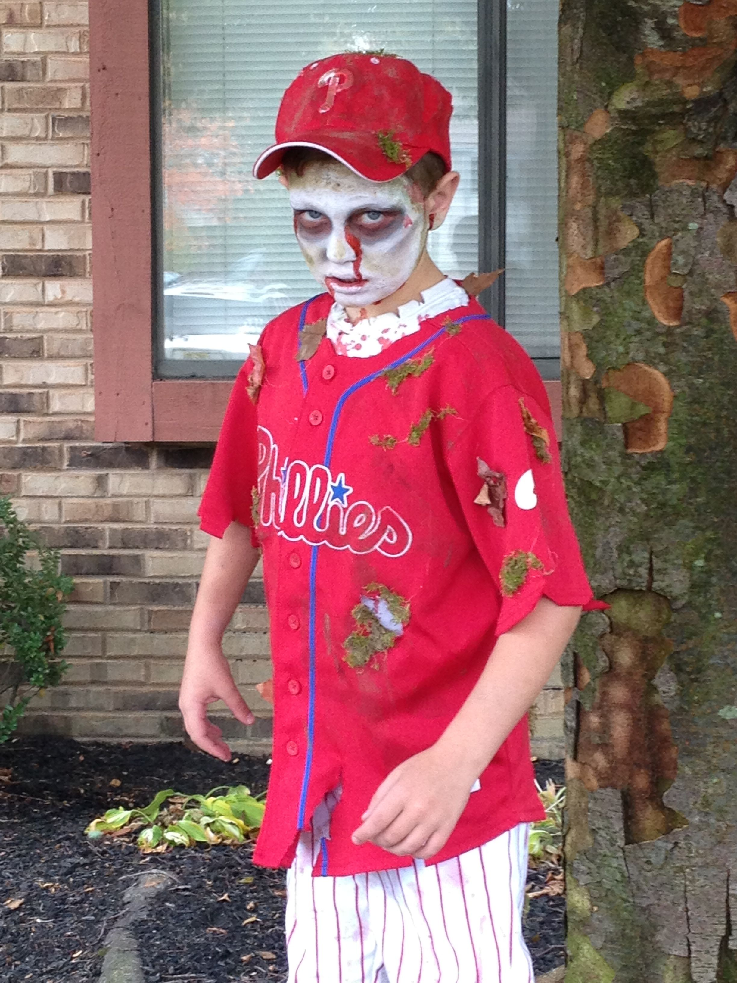 Zombie Baseball Player Halloween Holidays In 2019