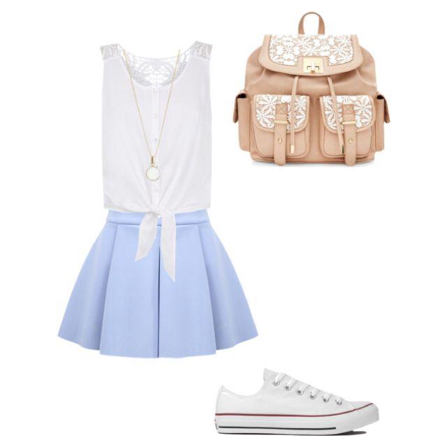 Casual School Girl