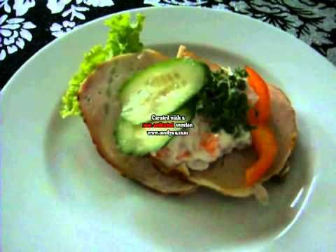 Dansk  Smørrebrød Håndmadder: hamburgerryg - video recipe in Danish with written English summary
