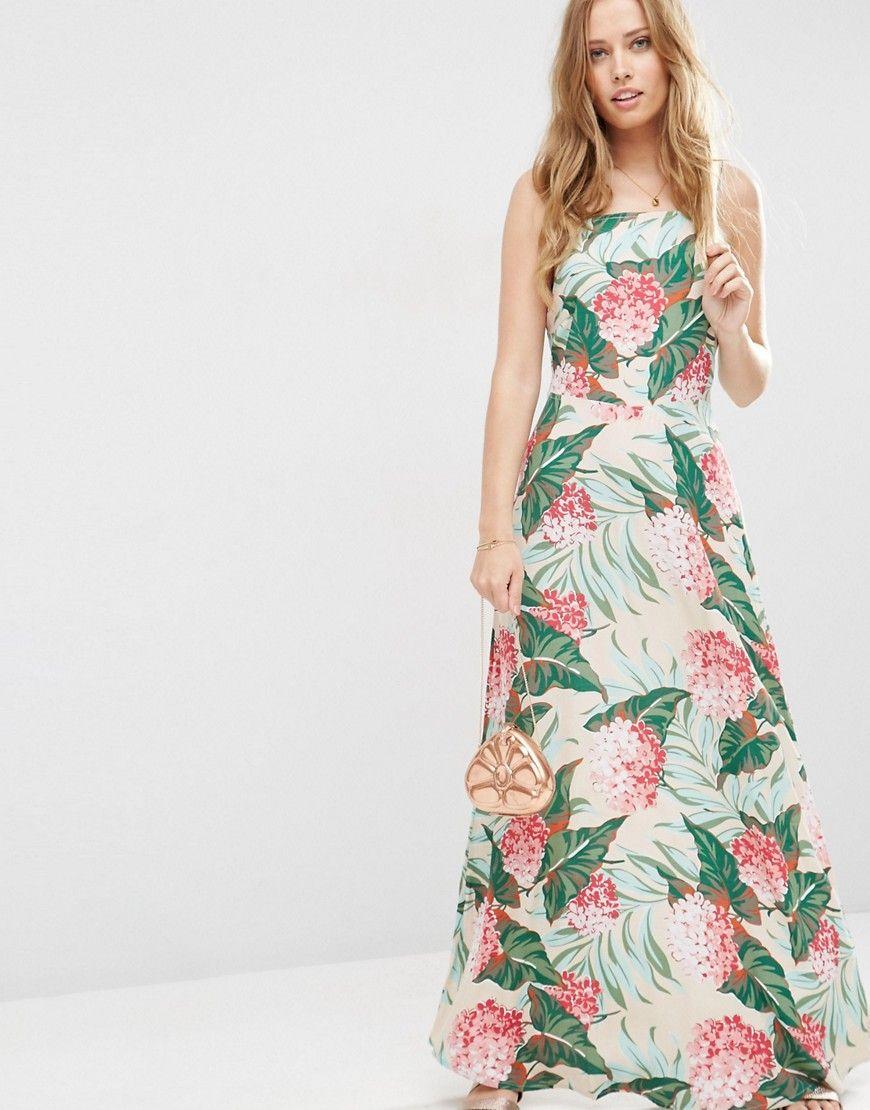 Image 1 Of Asos Tropical Print Maxi Dress Vestidos Bonitos
