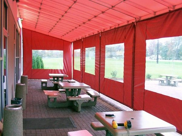 Restaurant Patio Enclosure Red 502 634 1877 Bluegrass Awning Company Restaurant Patio Patio Enclosures Patio