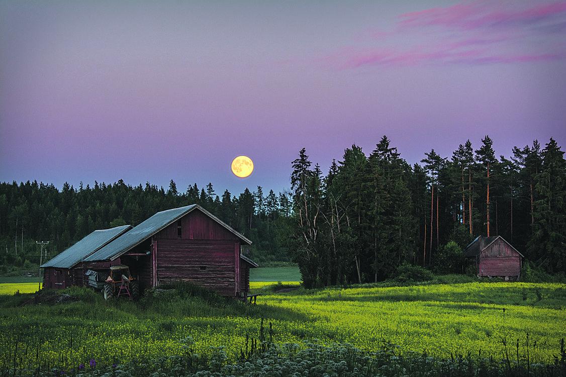 Kuu ja Suomen kesä.
