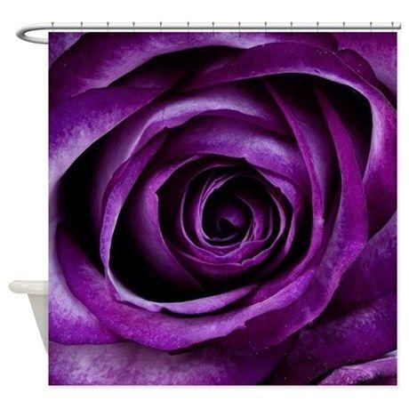 Purple Rose Flower Shower Curtain By Liviana Cafepress Purple Roses Dark Purple Roses Blooming Rose