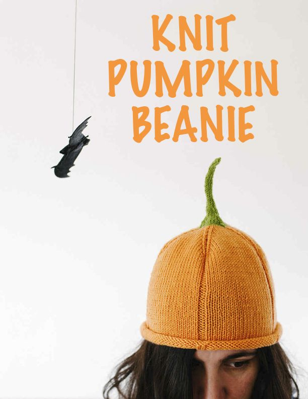 Knit Pumpkin Beanie | Coses | Pinterest | Ropa