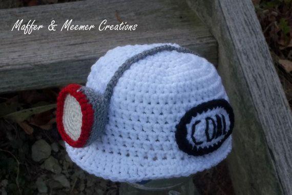 aeb87f34194 Instant Download Crochet Pattern - Lil  Miner Hat - PDF